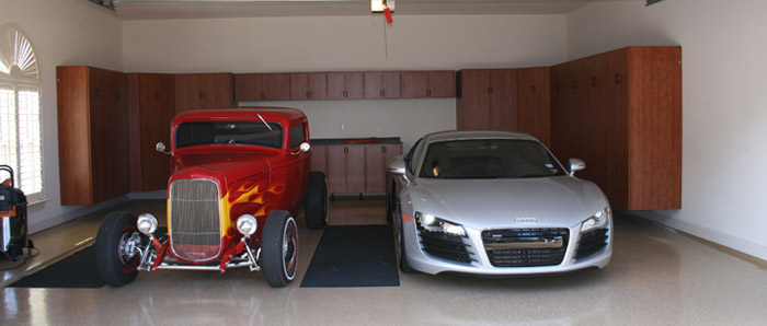 Garage cabinets austin tx garage cabinets for Beautiful garage interiors