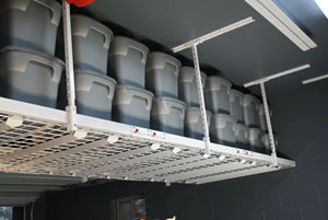 Overhead Racks As Garage Storage Solutions